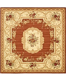 Belvoir Blv3 Brick Red 10' x 10' Square Area Rug
