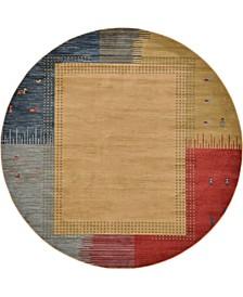 Ojas Oja9 Tan 8' x 8' Round Area Rug