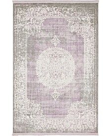 Norston Nor4 Purple 4' x 6' Area Rug