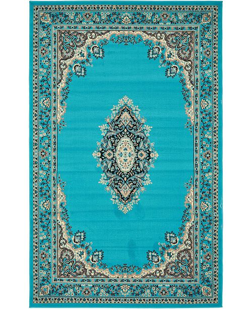 Bridgeport Home Birsu Bir1 Turquoise 5' x 8' Area Rug