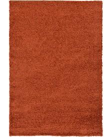 Bridgeport Home Exact Shag Exs1 Terracotta 6' x 9' Area Rug