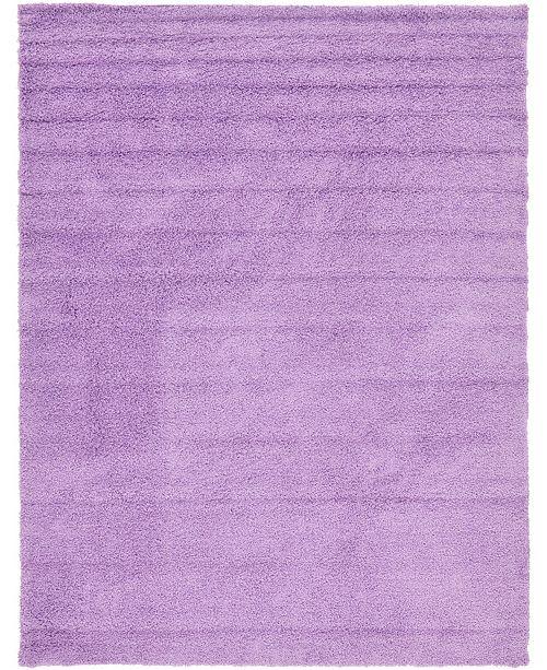 Bridgeport Home Exact Shag Exs1 Lilac 9' x 12' Area Rug