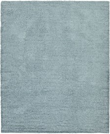 Bridgeport Home Exact Shag Exs1 Light Slate Blue 12' x 15' Area Rug