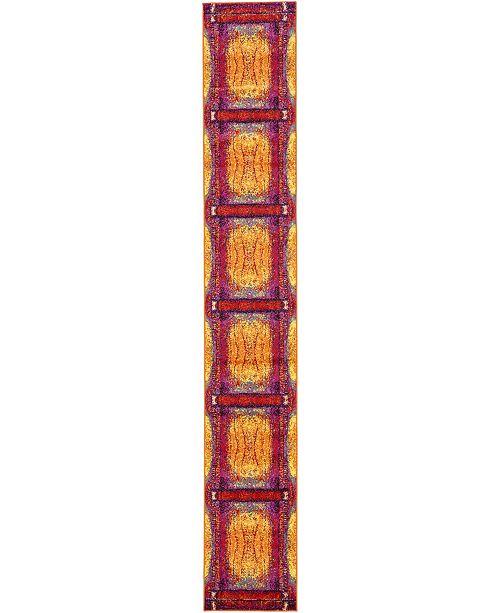 Bridgeport Home Politan Pol1 Yellow 2' x 13' Runner Area Rug