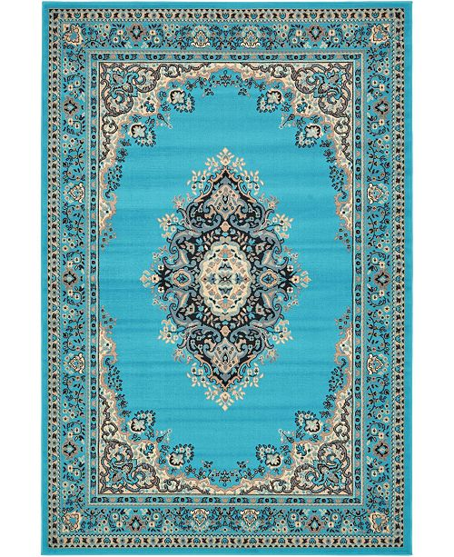Bridgeport Home Birsu Bir1 Turquoise 6' x 9' Area Rug