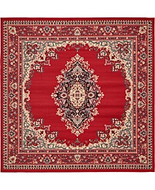 Birsu Bir1 Red 8' x 8' Square Area Rug