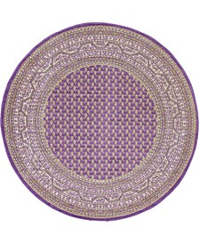 Axbridge Axb1 Violet 5' x 5' Round Area Rug