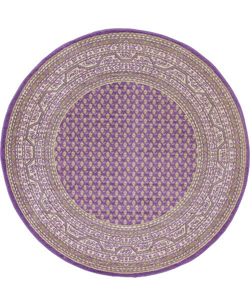 Bridgeport Home Axbridge Axb1 Violet 5' x 5' Round Area Rug