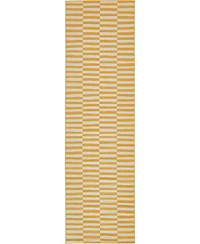 "Axbridge Axb2 Yellow 2' 9"" x 9' 10"" Runner Area Rug"