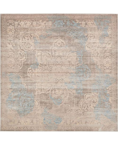 Bridgeport Home Caan Can4 Taupe 8' x 8' Square Area Rug
