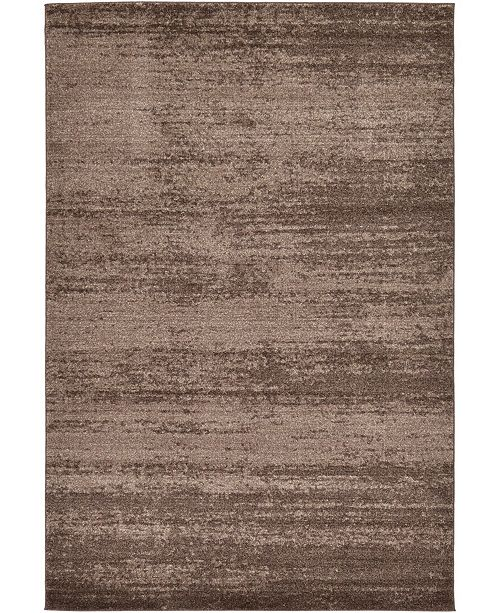 Bridgeport Home Lyon Lyo3 Brown 6' x 9' Area Rug