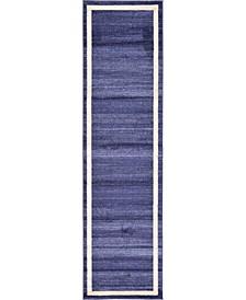 """Lyon Lyo5 Navy Blue 2' 7"""" x 10' Runner Area Rug"""