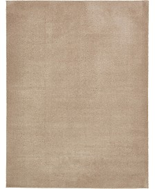 Bridgeport Home Salon Solid Shag Sss1 Taupe 9' x 12' Area Rug