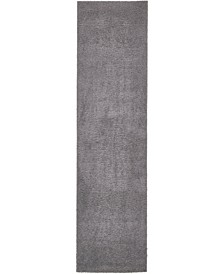"Salon Solid Shag Sss1 Dark Gray 2' 7"" x 10' Runner Area Rug"