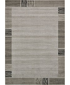 "Lyon Lyo1 Light Gray 8' x 11' 4"" Area Rug"