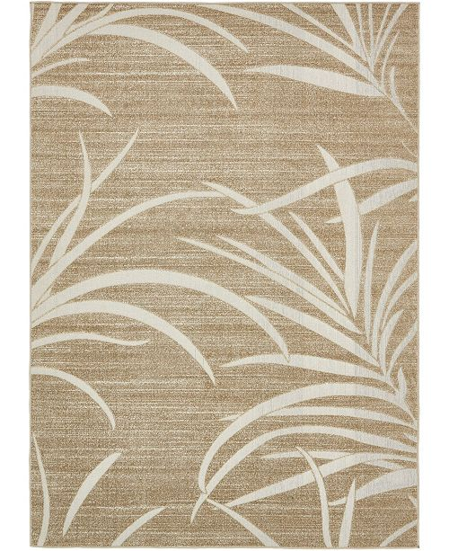 Bridgeport Home Pashio Pas4 Beige 7' x 10' Area Rug