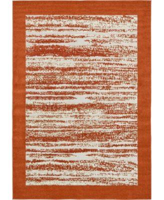 Pashio Pas4 Terracotta 7' x 10' Area Rug