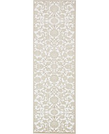"Bridgeport Home Marshall Mar1 Snow White 3' x 9' 10"" Runner Area Rug"