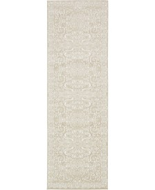 "Bridgeport Home Marshall Mar4 Snow White 3' x 9' 10"" Runner Area Rug"