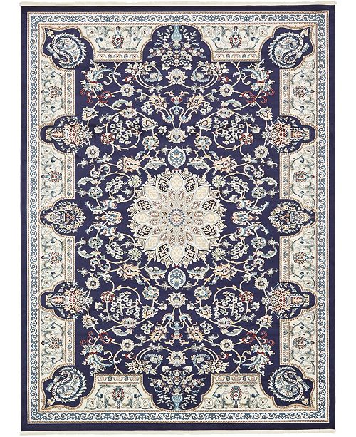 Bridgeport Home Zara Zar5 Navy Blue 10' x 13' Area Rug