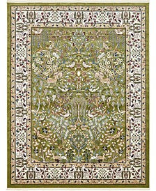 Zara Zar7 Green 8' x 10' Area Rug