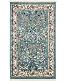 Bridgeport Home Zara Zar7 Blue 3' x 5' Area Rug