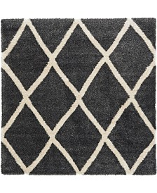 Bridgeport Home Latisse Shag Lts1 Black 8' x 8' Square Area Rug