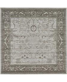 Aldrose Ald4 Light Gray 6' x 6' Square Area Rug