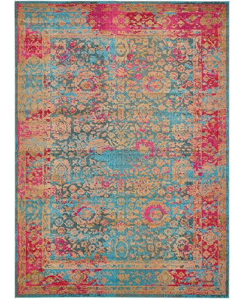 Bridgeport Home Sana San8 Blue 8' x 11' Area Rug