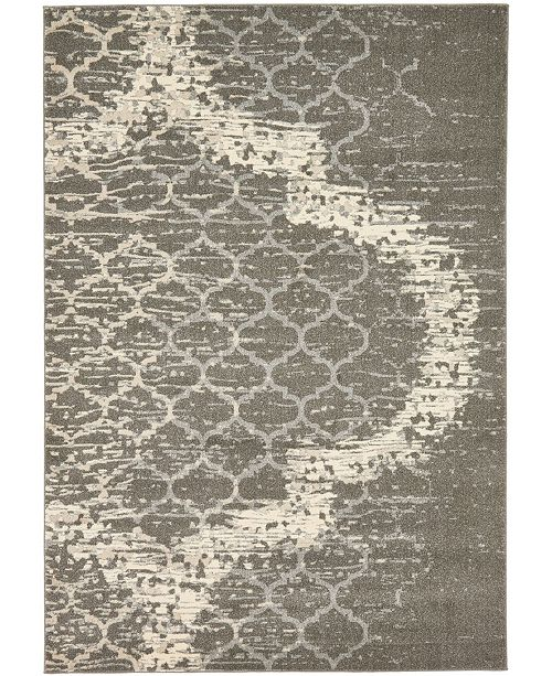 Bridgeport Home Arbor Arb8 Light Gray 7' x 10' Area Rug