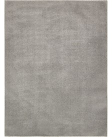 Bridgeport Home Salon Solid Shag Sss1 Light Gray 9' x 12' Area Rug