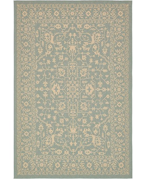 Bridgeport Home Pashio Pas6 Light Blue 6' x 9' Area Rug