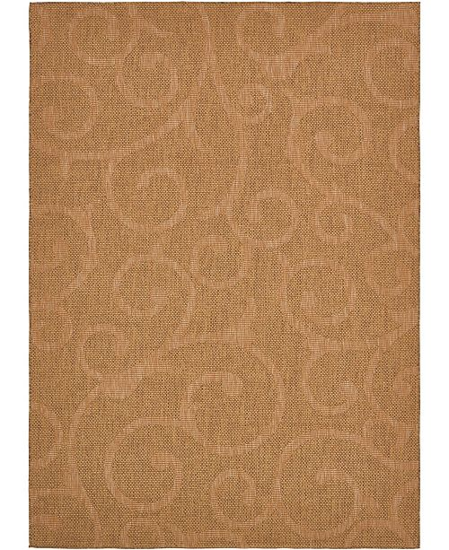 "Bridgeport Home Pashio Pas7 Brown 8' x 11' 4"" Area Rug"