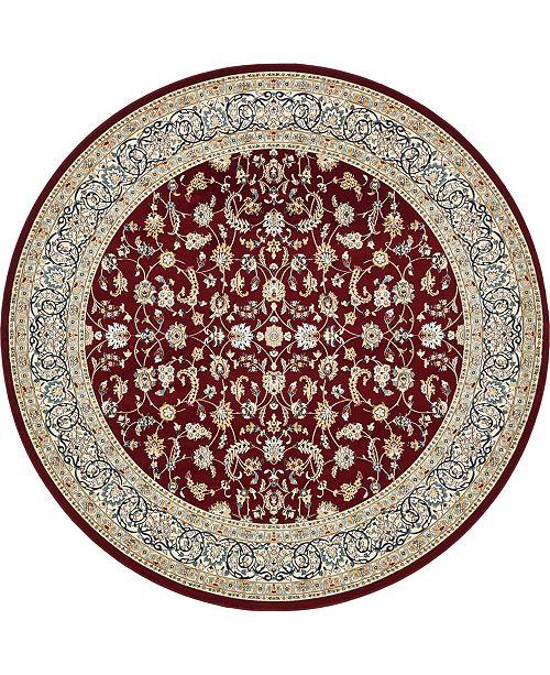 Bridgeport Home Zara Zar1 Burgundy 10' x 10' Round Area Rug