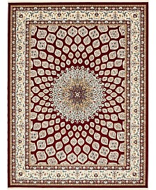 Bridgeport Home Zara Zar1 Burgundy 10' x 13' Area Rug