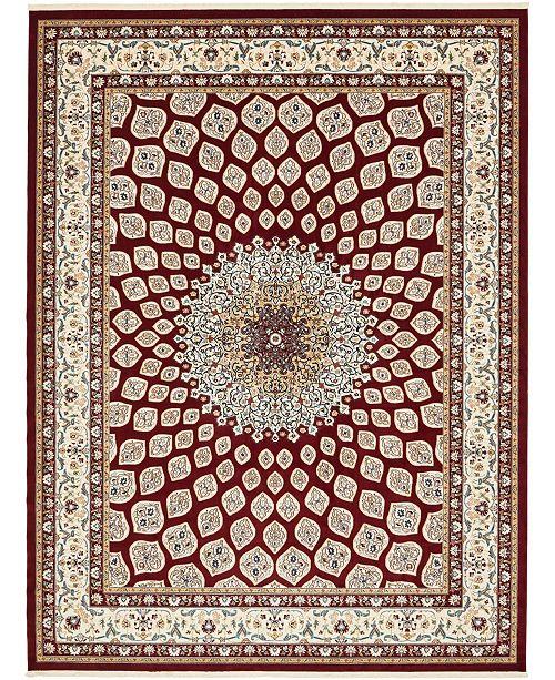 Bridgeport Home Zara Zar1 Burgundy 10' x 13' Area Rug