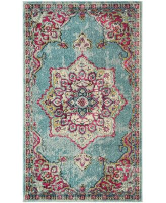 "Sana San1 Light Blue 3' 3"" x 5' 3"" Area Rug"