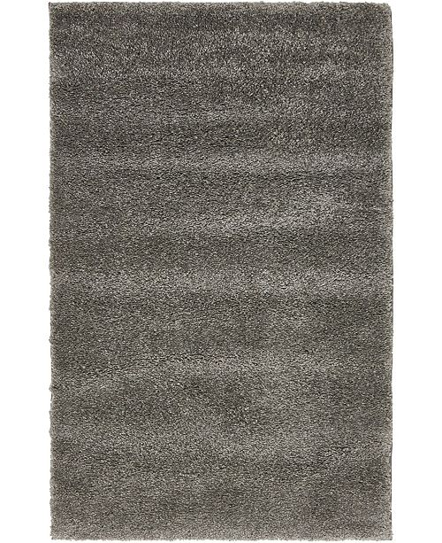 "Bridgeport Home Uno Uno1 Gray 3' 3"" x 5' 3"" Area Rug"