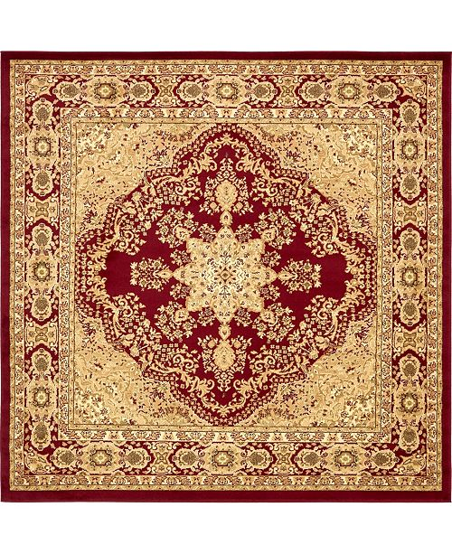 Bridgeport Home Belvoir Blv1 Red 8' x 8' Square Area Rug