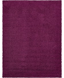 Bridgeport Home Exact Shag Exs1 Eggplant Purple 12' x 15' Area Rug