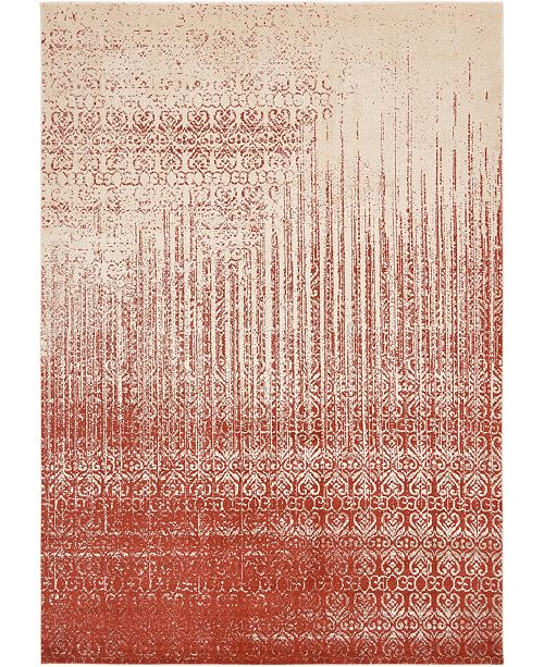 "Bridgeport Home Lyon Lyo2 Red 8' x 11' 4"" Area Rug"