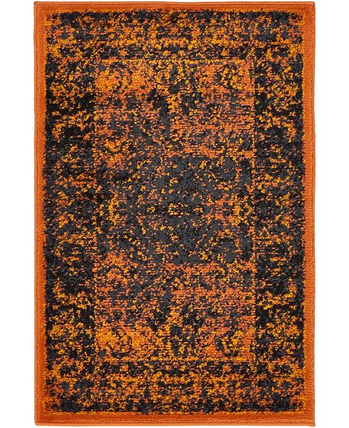 Bridgeport Home Linport Lin1 Terracotta/Black 2' x 3' Area Rug
