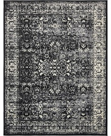 "Bridgeport Home Linport Lin1 Black 13' x 19' 8"" Area Rug"