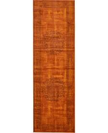 """Linport Lin5 Terracotta 3' x 9' 10"""" Runner Area Rug"""