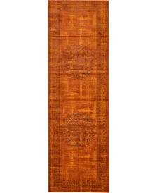 "Bridgeport Home Linport Lin5 Terracotta 3' x 9' 10"" Runner Area Rug"