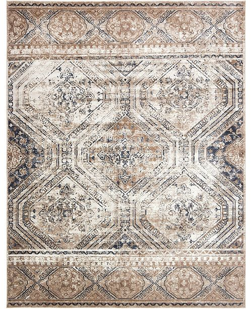 Bridgeport Home Odette Ode5 Navy Blue Area Rug Collection