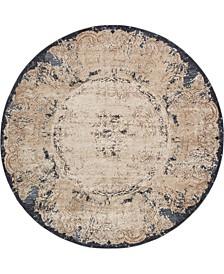 Odette Ode9 Beige 8' x 8' Round Area Rug