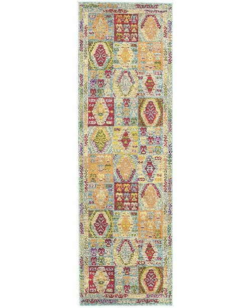 "Bridgeport Home CLOSEOUT! Arcata Arc9 Light Blue 2' 2"" x 6' 7"" Runner Area Rug"