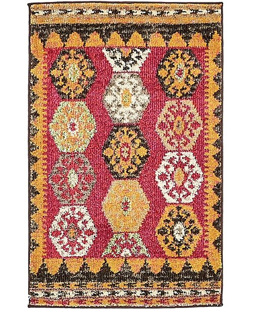 Bridgeport Home CLOSEOUT! Arcata Arc8 Red 2' x 3' Area Rug