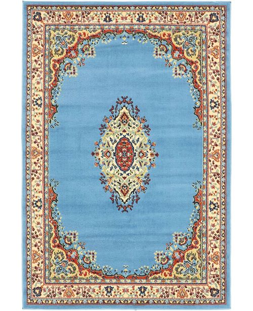 Bridgeport Home Birsu Bir1 Light Blue 4' x 6' Area Rug